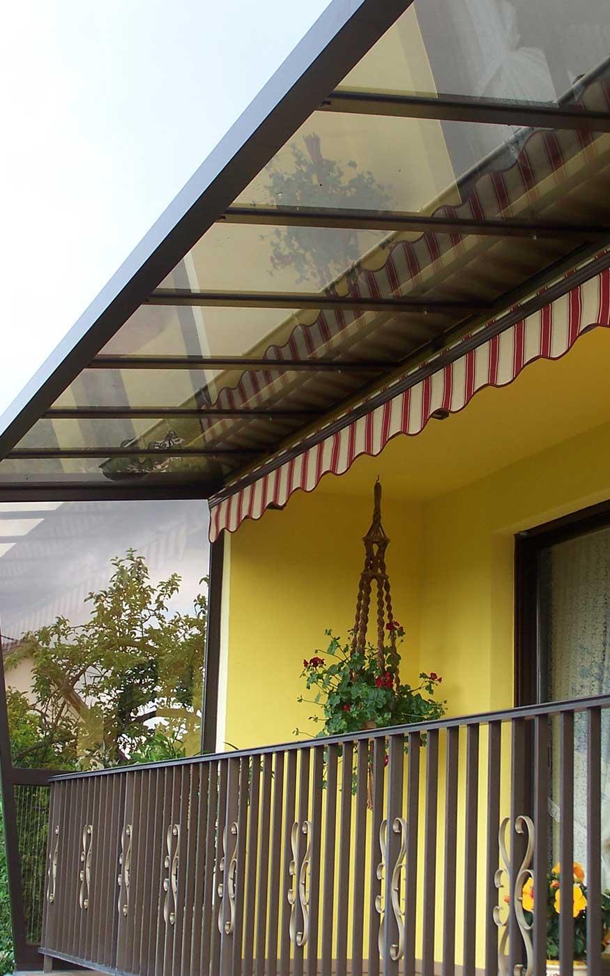 Auvent Balcon dedans réalisations en verandas / pergolas - krautergersheim   braun a